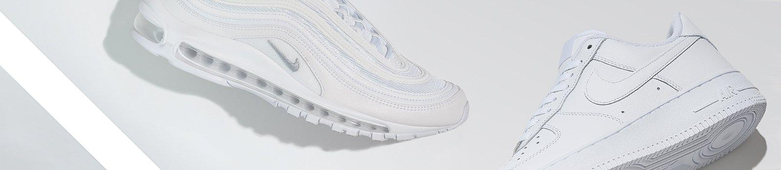Educación escolar profundamente desesperación  All White Shoes | White on White Sneakers | Finish Line