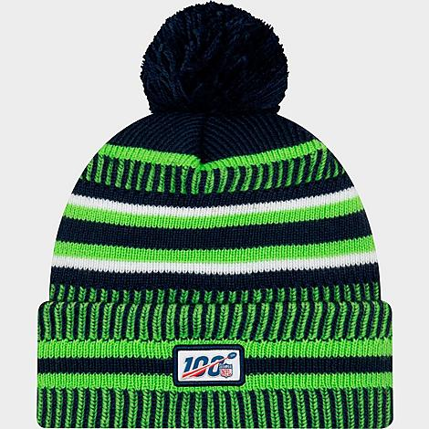 available various styles price reduced New Era Seattle Seahawks NFL Home Striped Sideline Beanie Hat ...