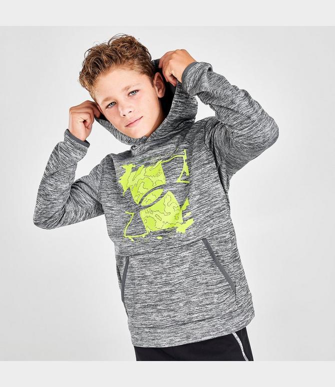 administrar dolor de muelas Goma de dinero  Boys' Under Armour Armour Fleece® Graphic Logo Pullover Hoodie| Finish Line