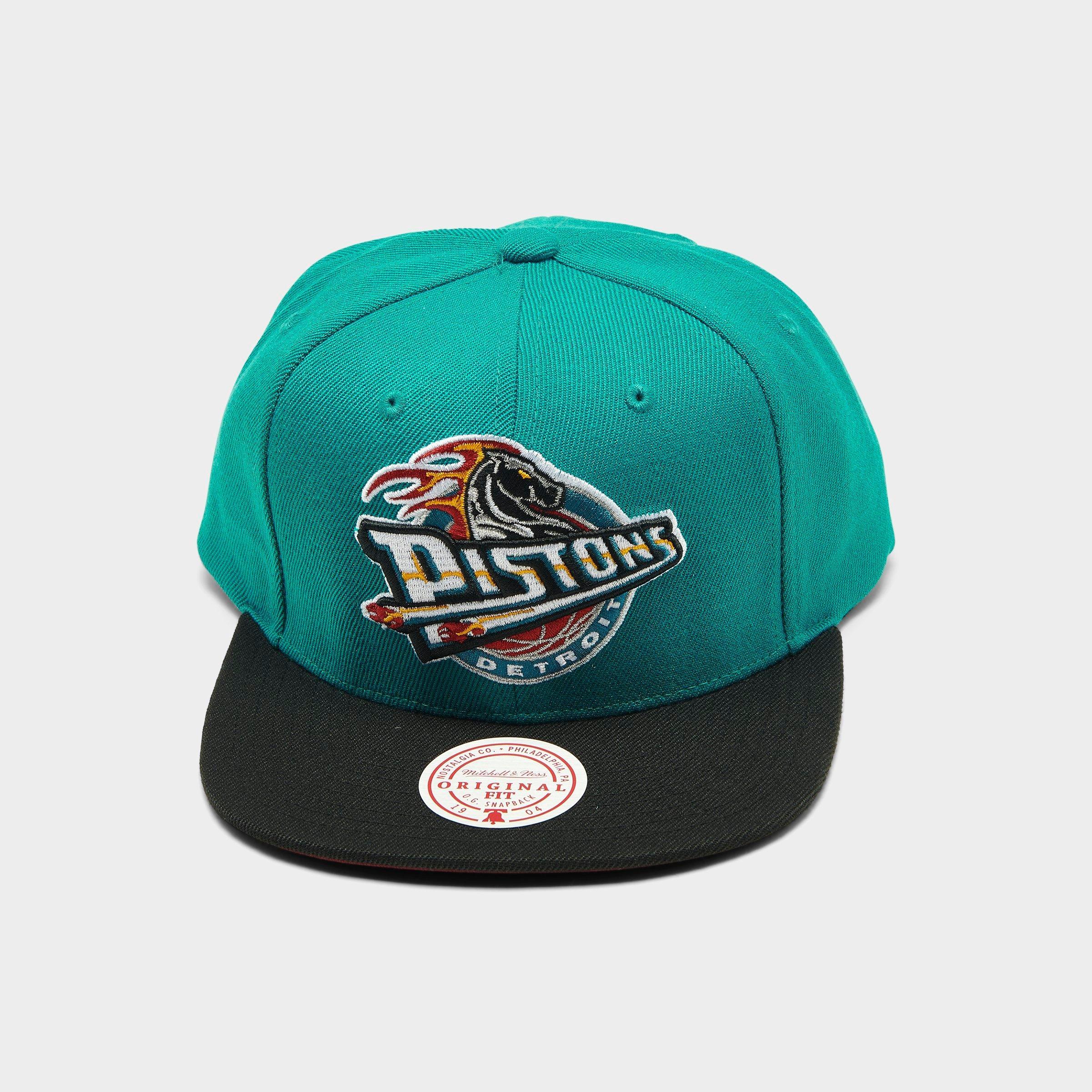 HWC Detroit Pistons teal Mitchell /& Ness Snapback Cap