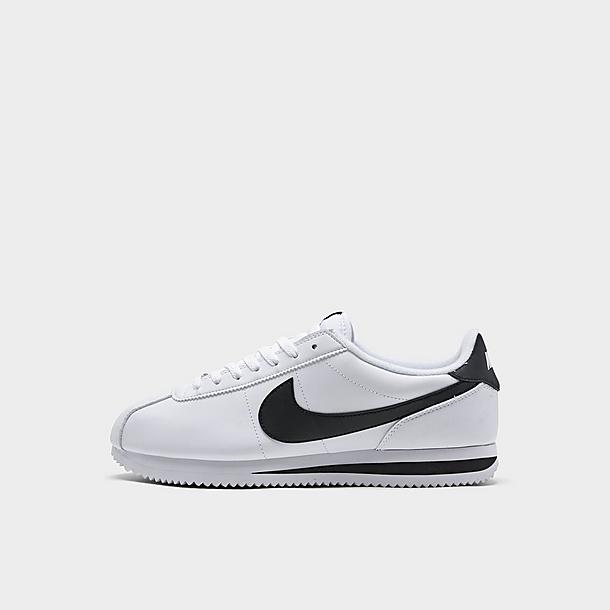 Men Shoe Cortez Basic Size 12 Black//Silver//White Leather 819719-012 Medium New