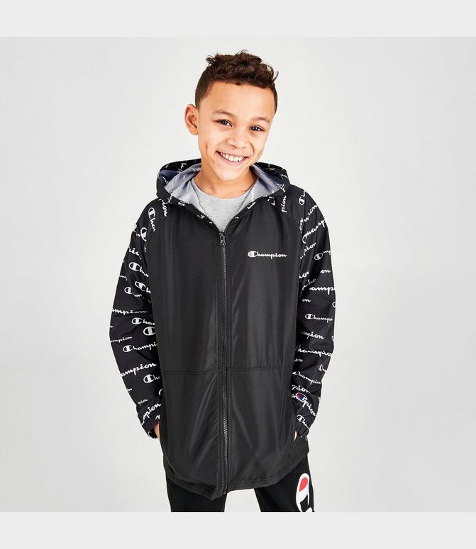Champion Boy/'s Youth GO-TO Full Zip Jacket Light Weight Athletic Windbreaker