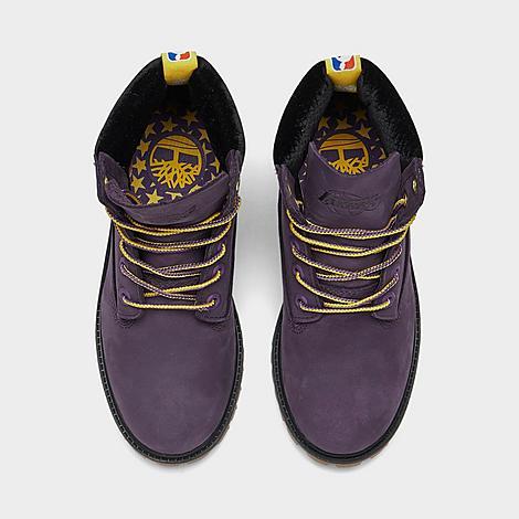 Big Kids' Timberland x NBA Los Angeles Lakers 6 Inch Classic Premium Boots
