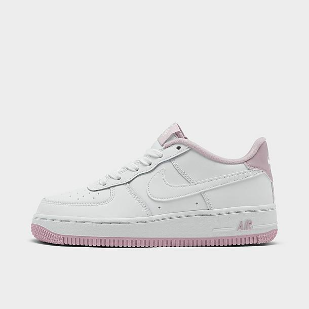 Kids/' Grade School Nike Air Force 1 Low Casual Shoes White 314192 117