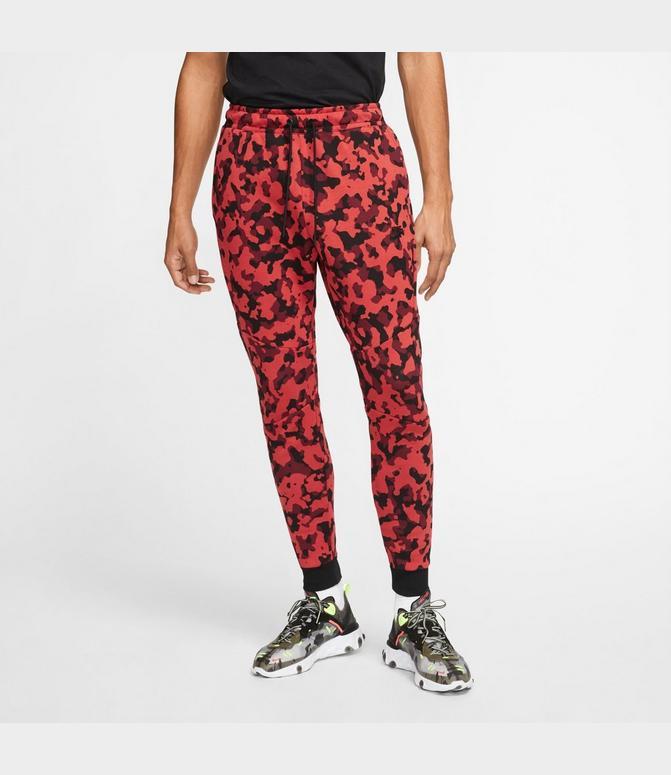 Men S Nike Sportswear Allover Print Tech Fleece Jogger Pants Finish Line