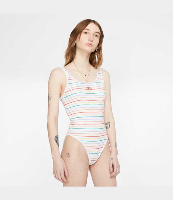 El actual Hombre Alicia  Women's Nike Sportswear Retro Femme Printed Bodysuit| Finish Line