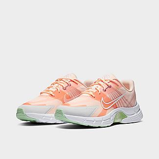 Three Quarter view of Women's Nike Alphina 5000 Casual Shoes in Crimson Tint/Atomic Pink/Desert Berry/White Click to zoom