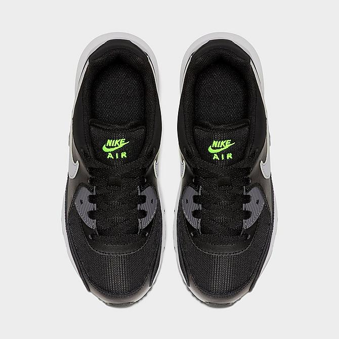 Front view of Little Kids' Nike Air Max Wright Casual Shoes in Black/Wolf Grey/Volt Click to zoom