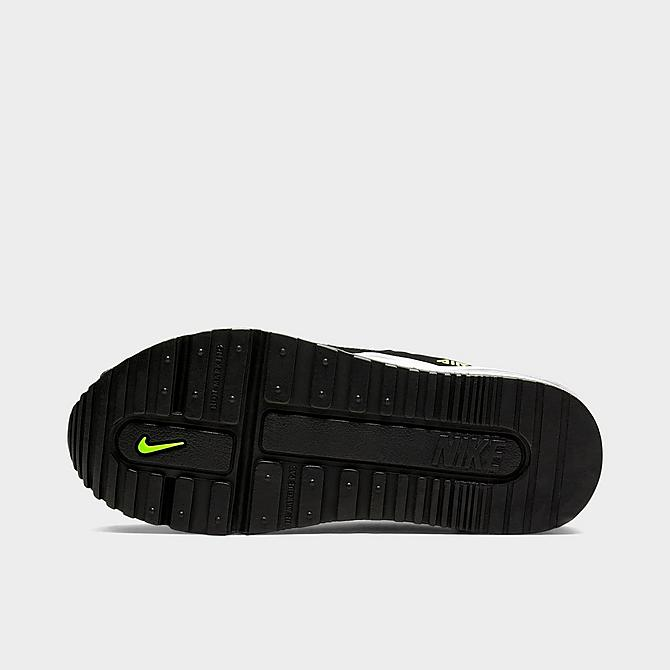 Left view of Little Kids' Nike Air Max Wright Casual Shoes in Black/Wolf Grey/Volt Click to zoom