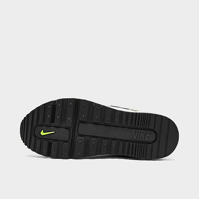 Bottom view of Little Kids' Nike Air Max Wright Casual Shoes in Black/Wolf Grey/Volt Click to zoom