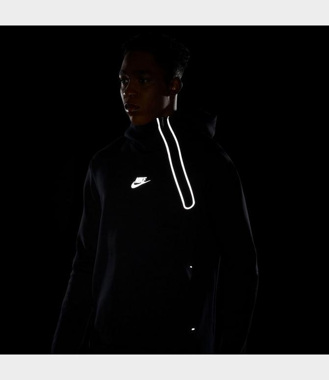 Men S Nike Sportswear Reflective Tech Fleece Half Zip Hoodie Finish Line