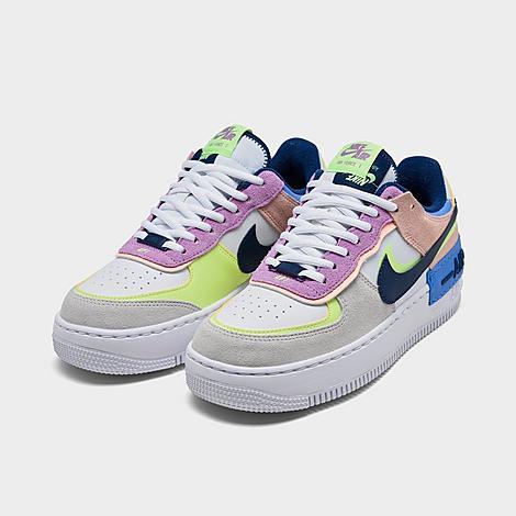 Women S Nike Air Force 1 Shadow Se Casual Shoes Finish Line Кожа, синтетика, текстиль, пластик, резина. women s nike air force 1 shadow se casual shoes