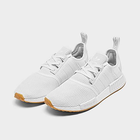 adidas nmd r1 mens white and orange