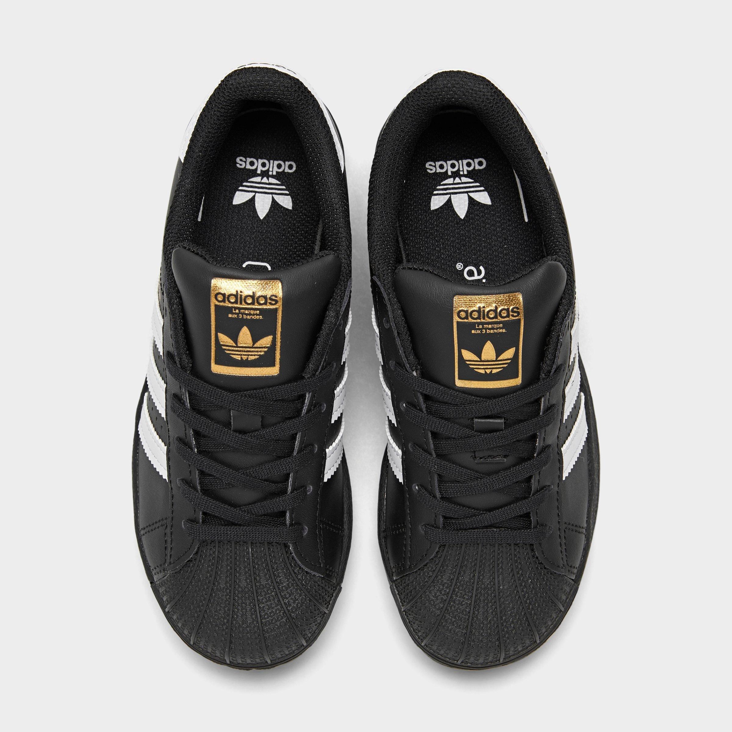 adidas superstar black back