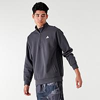 Finishline.com deals on Adidas Badge Of Sport Striped Mens Half-zip Hoodie