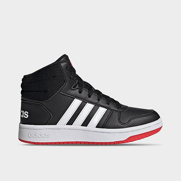 Boys' Little Kids' adidas Essentials Hoops 2.0 Mid Casual Shoes