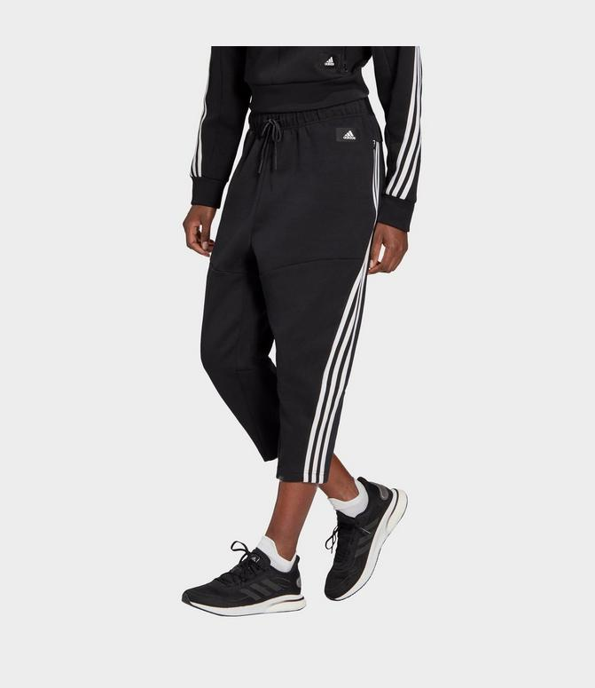 Fruncir el ceño Pautas Descortés  Women's adidas Sportswear Z.N.E. Wrapped 3-Stripes Cropped Pants| Finish  Line