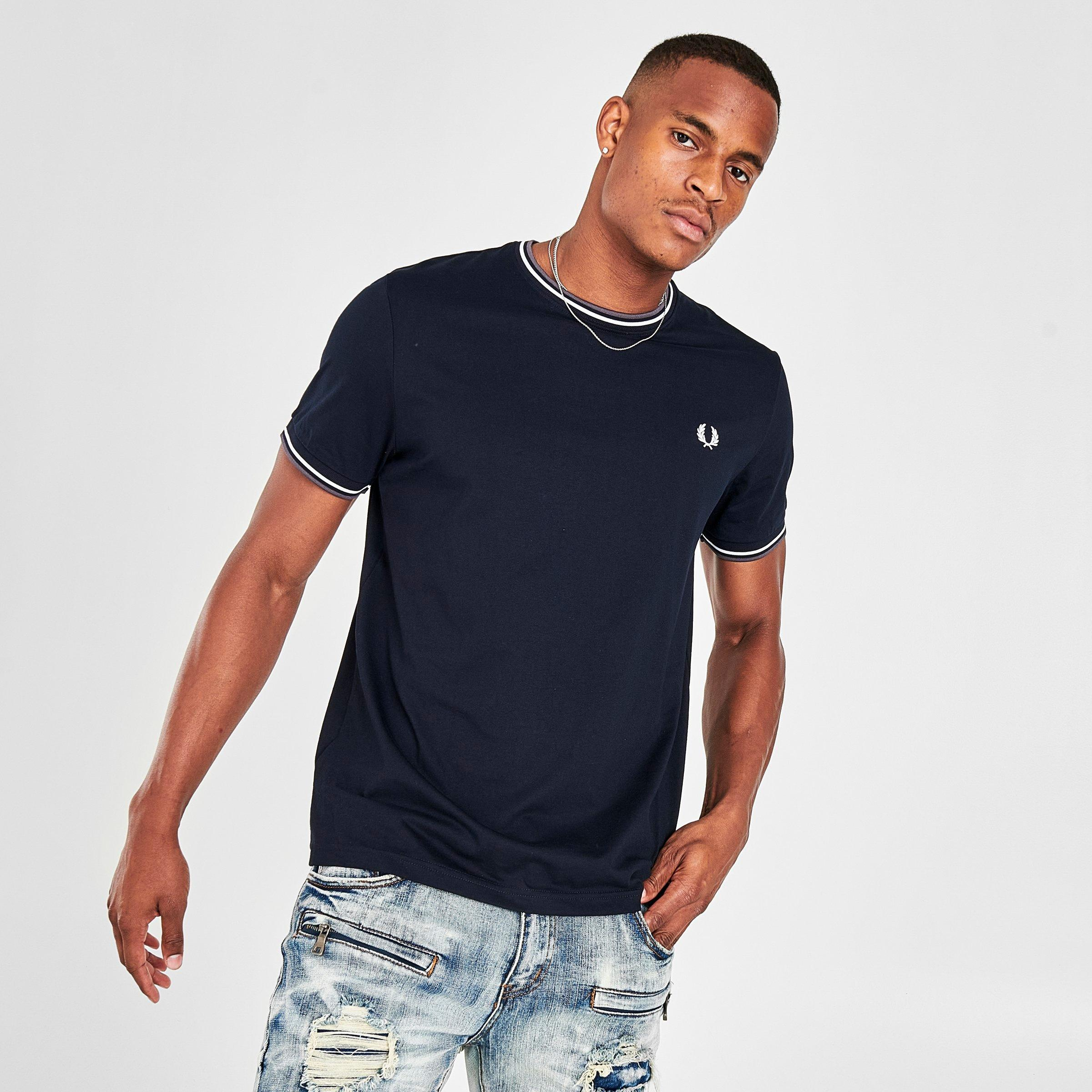 Fred Perry Men/'s Navy Twin Tipped T-Shirt