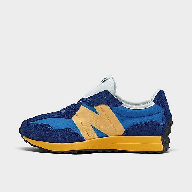 Right view of Boys' Big Kids' New Balance 327 Casual Shoes in Marine Blue/Aspen Click to zoom