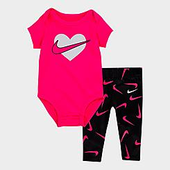 Girls' Infant Nike Swooshfetti Bodysuit and Leggings Set