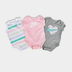 Girls' Infant Nike Sidewalk Chalk Bodysuit (3-Pack)