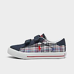 Boys' Toddler Polo Ralph Lauren Easton II Plaid Hook-and-Loop Casual Shoes