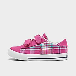 Girls' Toddler Polo Ralph Lauren Easten II Plaid Hook-and-Loop Casual Shoes