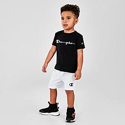 Boys' Toddler Champion Multicolor Script Logo T-Shirt and Shorts Set