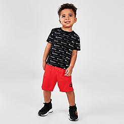 Boys' Toddler Champion Allover Print Script Multi-Color Shorts and T-Shirt Set