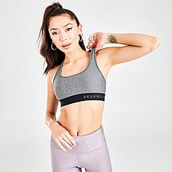 Women's Under Armour Mid Crossback Heather Medium-Impact Sports Bra