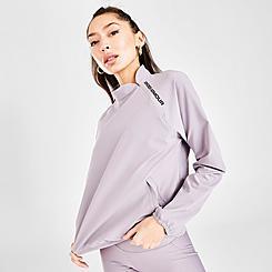 Women's Under Armour Woven Branded Half-Zip Sweatshirt