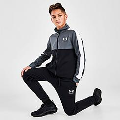 Boys' Under Armour Colorblock Knit Track Suit