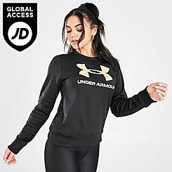Women's Under Armour Metallic Fleece Crewneck Sweatshirt
