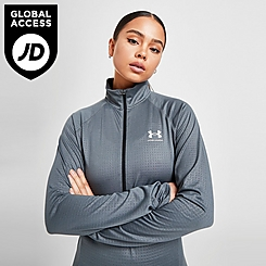 Women's Under Armour Tech Grid Print Half-Zip Training Top