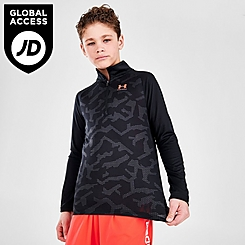 Boys' Under Armour Camo Tech Half-Zip Pullover
