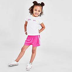 Girls' Toddler Champion Colorblock Script T-Shirt and Shorts Set