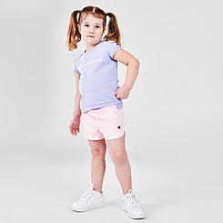 Girls' Toddler Champion Zebra Script T-Shirt and Shorts Set
