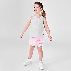 Girls' Toddler and Little Kids' Champion Multicolor Rib Vertical Script Tank and Shorts Set