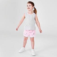 Girls' Toddler Champion Multicolor Rib Vertical Script Tank and Shorts Set