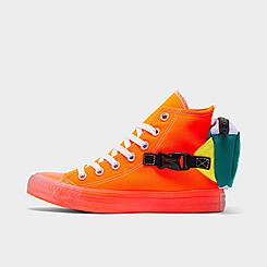 Men's Converse Chuck Taylor All Star Neon Jelly Buckle Up High Top Casual Shoes