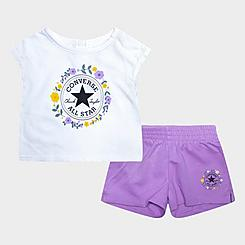 Girls' Infant Converse Flower Crown Chuck Taylor Logo T-Shirt and Shorts Set