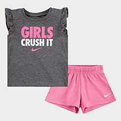 Girls' Infant Nike Girls Crush It T-Shirt and Shorts Set