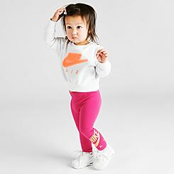 Girls' Infant Nike Air Crewneck Sweatshirt and Leggings Set