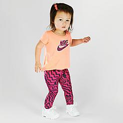 Girls' Infant Nike Zebra Print T-Shirt and Leggings Set