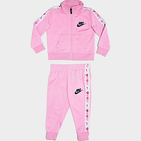 Nike Tracksuits NIKE GIRLS' INFANT HEART TAPED TRICOT TRACKSUIT