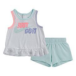 Girls' Infant Nike Sidewalk Chalk French Terry Tank and Shorts Set