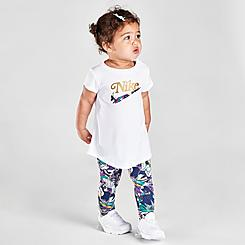 Girls' Infant Nike Floral Tunic Top and Leggings Set