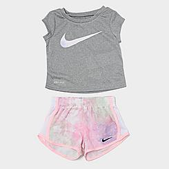 Girls' Infant Nike Dri-FIT Tie-Dye Just Do It T-Shirt and Tempo Shorts Set