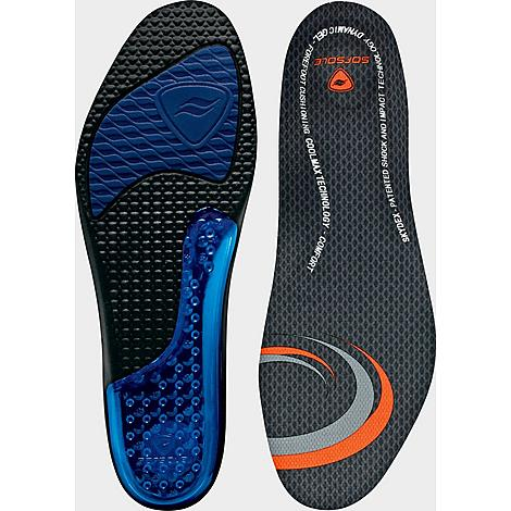 Sof Sole Men's Airr Insole Size 13-14 in Blue/Orange/Black/M 13-14 The Sof Sole Airr Insole features revolutionary air bag technology with a Coolmax fabric cover. The heel and arch contain air cushioning pockets to make every step feel light and reduces the direct impact on your feet. Place underneath existing insole for proper fit. Size: One Size. Color: Blue/Orange/Black. Gender: male. Age Group: adult. Sof Sole Men's Airr Insole Size 13-14 in Blue/Orange/Black/M 13-14