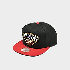 Men's Mitchell & Ness New Orleans Pelicans NBA Core Basic HW Snapback Hat
